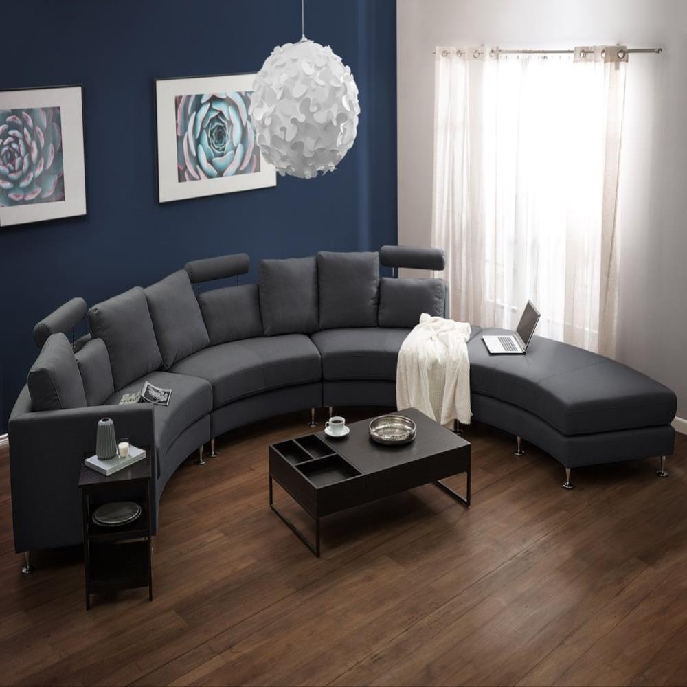 Curved Wedge Sectional Sofa