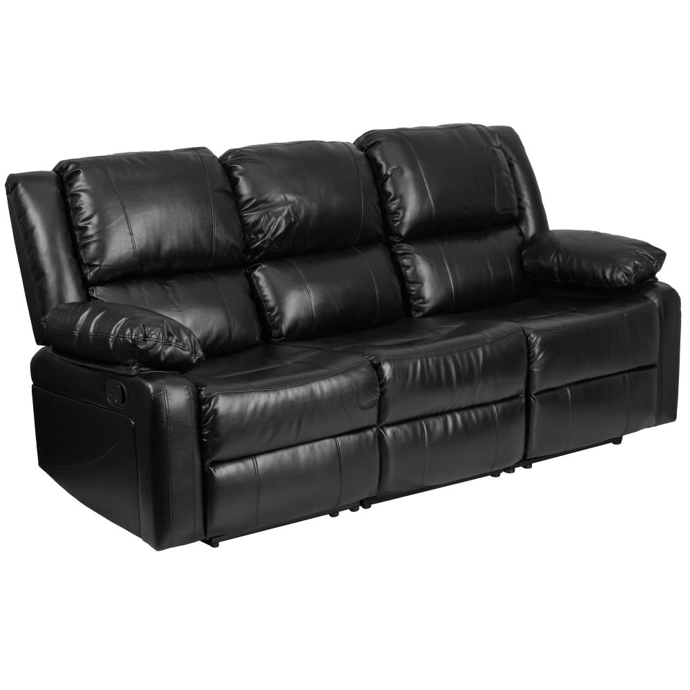 Modern Curved Leather Sofa